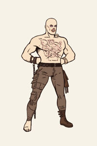 WAR BOY NUX - Giclee by MIKE MITCHELL - xx/50 - MAD MAX FURY ROAD - SUPER