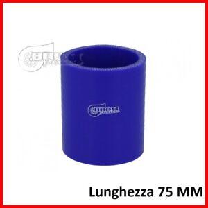 Manicotto tubo silicone da 75 mm 51 54 60 63 70 76 per giunzione collegamento