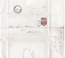 * 1881 GREGORY & Co LONDON PERFIN WRAPPER WHITEHAVEN TPO RAILWAY POSTMARK REV.