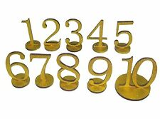 1set 1-10 Glitter Gold  Wooden Table  Numbers With Holder Base Wedding Birthday