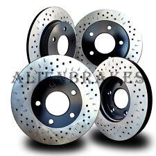 HON027SD S2000 S2K 2000-2009 Rotors Front + Rear Cross Drill & Dimple Slots