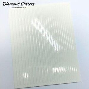 Flexi Tape Nail Stickers Line Tape White Gloss Metallic Self Adhesive Nail Art