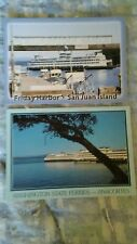 LOT OF 2 WASHINGTON STATE FERRY POST CARDS THE SAN JUAN ISLANDS
