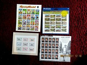 4 Different Full Sheets of MNH U.S. STAMPS Check Them Out You May Want Them #3