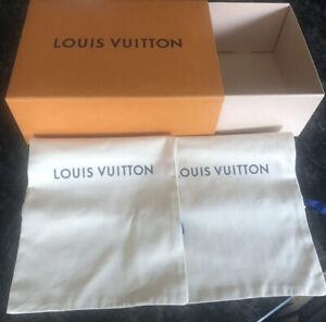 Genuine Louis Vuitton Drawer Style Box & 2x Drawstring Dustbags