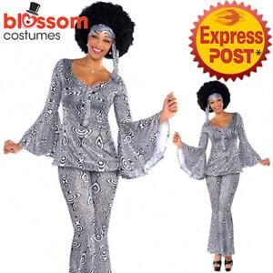 K392  60s 70s Go Go Retro Hippie Dancing Groovy Hippy Disco Fancy Dress Costume