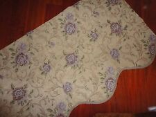 REGAL HOME PURPLE LILAC ROSE GREEN CHENILLE SCALLOPED VALANCE  22 X 50
