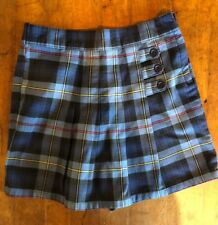 French Toast Girls Size 6X School Uniform Pleated Skort with Tabs Blue Red Plaid