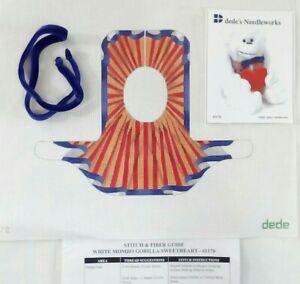 dede needlepoint HP handpaint canvas 3D White Mombo Gorilla Sweetheart #1170 18m