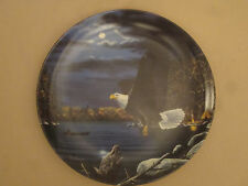 Bald Eagle collector plate Midnight Duty Jim Hansel Camping Wildlife