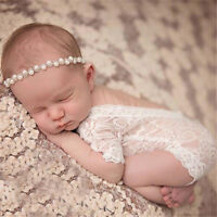 Newborn Baby Girl Clothe Lace Floral Romper Backless Bodysuit Photo Prop.Out Cw