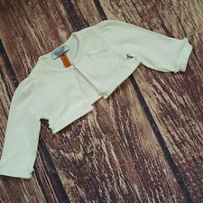 Mayoral newborn size shrug bolero white ruffles & bows
