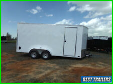 2021 nationcraft 7 x 16 tall New white enclosed cargo motorcycle trailer SxS