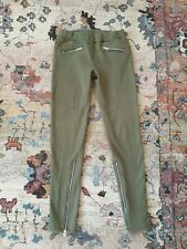 Synergy Organic Clothing Army Green Zipper Ankle  Pants Cotton Elastic Waist M S