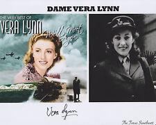 Vera Lynn Hand Signed 8x10 Photo Autograph, White Cliffs of Dover, War Singer E