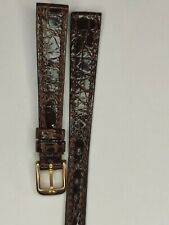 Omega Nos Vintage Leather Strap Lady 12mm Browm & Gold-plated Buckle