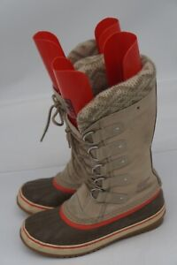 SOREL JOAN OF ARTIC WATERPROOF WOMENS BOOTS TAUPE Size 8, NL2084-160