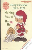 Counted Cross Stitch Patterns Merry Christmas 1973 - 1993 16 Projects