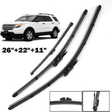 "26""22""11"" Front Rear Windshield Wiper Blades Kit Fit For Ford Explorer 2011-2017"