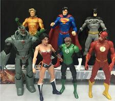 """7pcs / set PVC Justice League Wonder Woman Batman Superman action Figure Toy 7"""""""