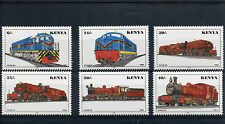 Kenya 1996 MNH Railways Locomotives Trains 6v Set Züge Trenes Rail Stamps