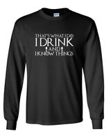 Long Sleeve Men's Game of Thrones I Drink And I Know Things T-Shirt Tyrion Tee