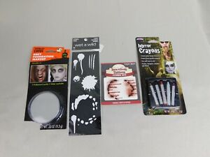 Zombie Halloween Costume Accessories - Makeup Face Tattoo and Stencil #7459