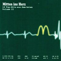 (CD) Mitten Ins Herz - 18 Top-Hits Aus Dem Osten Volume II - Puhdys, City, Karat