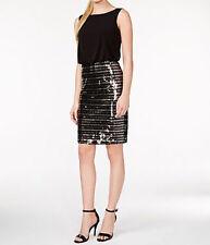Calvin Klein New Sequin-Stripe Combo Dress Size 4 MSRP $159 #JN 90 (4)