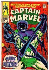 Captain Marvel 5 Early Carol Danvers! Classic Cover! Vg (4.0) Ronan Story!