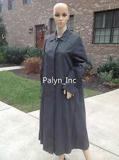 NWT$169 ZARA DARK GREY FLOWING LONG TRENCH COAT JACKET WATERPROOF LIGHTWEIGHT_XS
