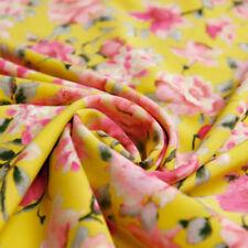 Tessuti e stoffe gialli di abbigliamento-abito per hobby creativi, lunghezza/quantità al metro