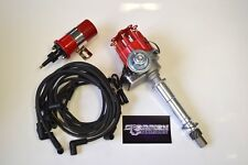 SBC Small Cap HEI Distributor Kit W/ Plug Wires & Coil 283 350 383 UNDER COVERS