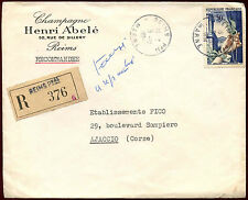 France 1954 Registered Cover #C33988