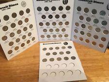 Complete Set Roosevelt Dimes 1977 - 2019 in Em Full Color Coin Folders