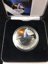 Meteorites Cosmic Fireballs Kainsaz Fiji 2012 Silver .999 Proof Coin $10