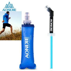 Aonijie running/hydration water bottle,collapsible 250/500ml with/without straw