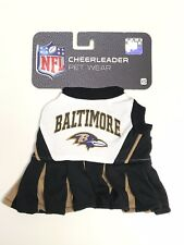 Official NFL Pet Wear Cheerleader Outfit Skirt Baltimore Ravens Football Dog