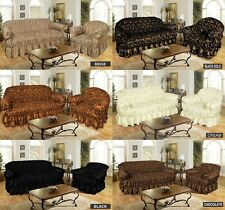 JACQUARD SOFA COVER  SETTEE COVER ELASTIC FITTING - 1 , 2 , 3 Seater