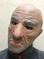Realistic Man Mask Old Male Mafia Disguise Halloween Fancy Dress Bouncer Latex