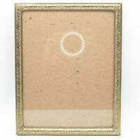 Vintage Goldtone Metal Picture Frame w/ Glass for 8x10
