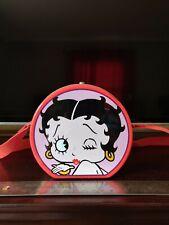 Mini Metal Pinback Betty Boop Tin With Strap