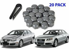 (20) Replacement Volkswagen Audi VW Wheel Bolt Lug Nut Caps + Removal Tool New