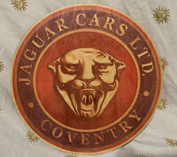 Vintage Jaguar Cars Ltd. Coventry Wooden Automobile Badge / Emblem