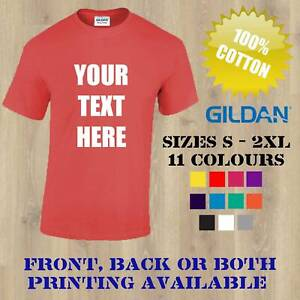Personalised Custom Printed T Shirts Gildan T-Shirt Men Women Stag Hen Workwear