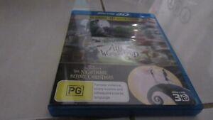 Rare Tim Burton 3D Movie coll- Frankenweene,Nightmare Before..,Alice in wonder..