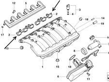 BMW E46 320i, 323i,325i,328i, 330i Inlet Manifold Gasket Set ELRING 11611436631