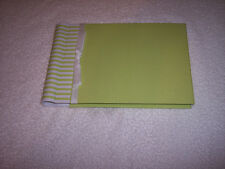 """Penny Laine Guest Book, Green, Fabric Covered, 40 Pages 6"""" x 9"""""""