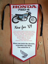 Honda Cb750 Nuevo Para'69 Clásica Motocicleta Banderín