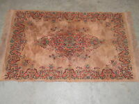 """NICE VINTAGE RUG  MEASURING APPROX. 33"""" X 55"""" NOT COUNTING FRINGE"""